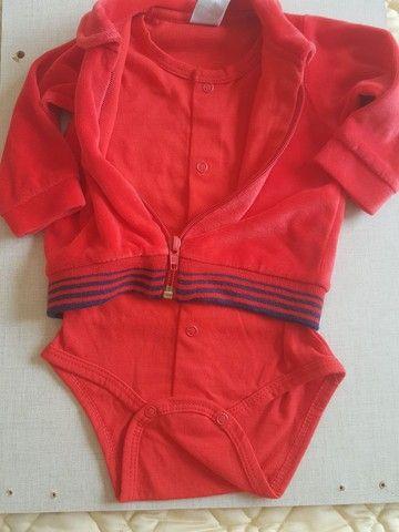 Casaco body plush vermelho - Foto 2