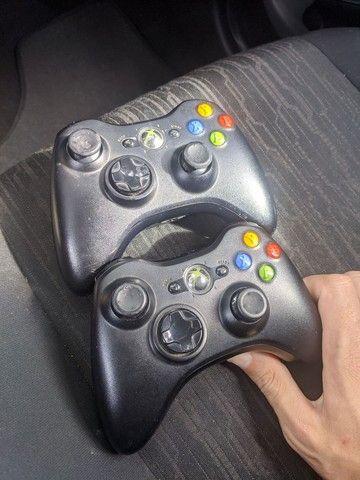 2 Controles Xbox 360 sem fio original por 300