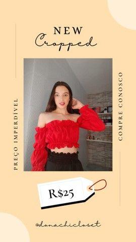 Cropped/top, roupa feminina