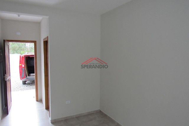 ? Casa nova c/ 2 quartos, ótimo padrão de acabamento R$139.500,00 - Baln. Brandalize - Foto 5
