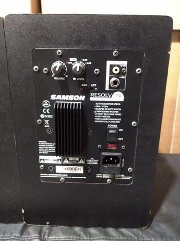 Monitor Ativo Samsom Resolv (Par) Mixer Instrumentos Musicais - Foto 4