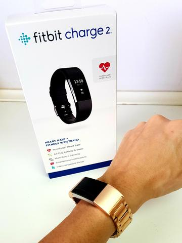 Relógio smartwatch Fitbit charge 2 preto (original)