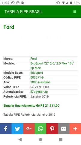 Ford ecosport 1. 6 xls 8v gasolina manual, 2005 carros, vans e.