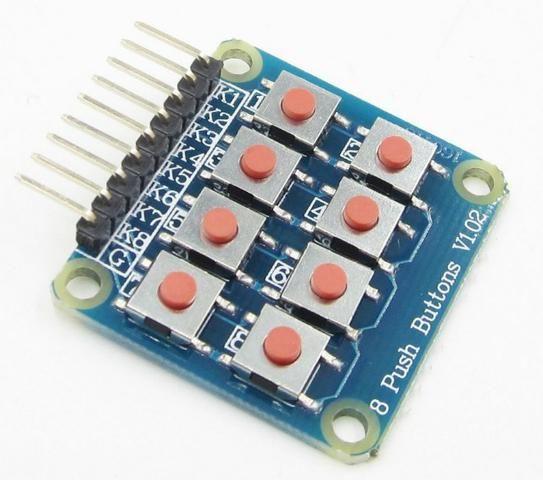COD-AM237 Módulo Teclado Matricial 2x4 Com 8 Botões Arduino Automação Robotica