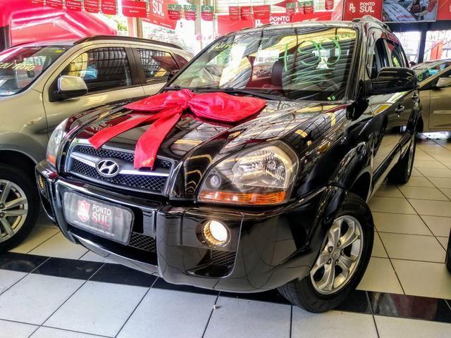 ® Hyundai Tucson GLS 2.0 2012/2013 Automatico Flex Baixo Km Bancos em Couro