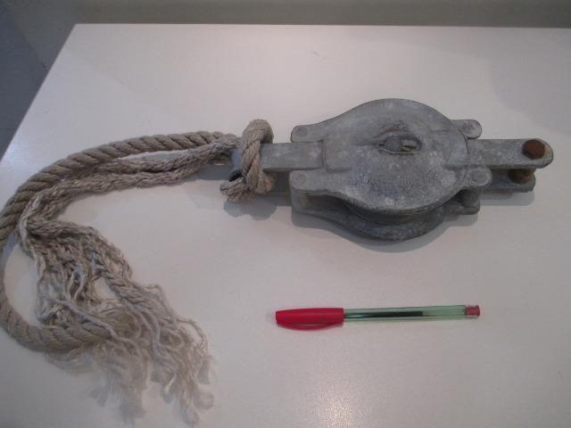 Roldana / moitão americano Western Block Co. antigo de celeiro e barco - Foto 2