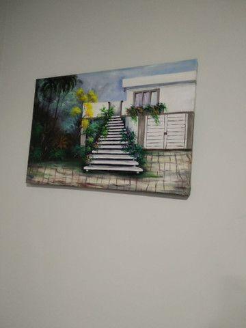 Quadro de tela  pintado mão  - Foto 4