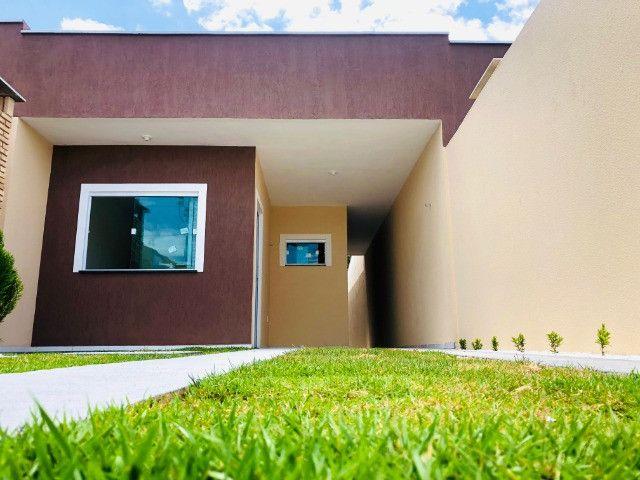 WS casa nova com 3 quartos,2 banheiros,coz.americana,quintal com otima localização - Foto 3