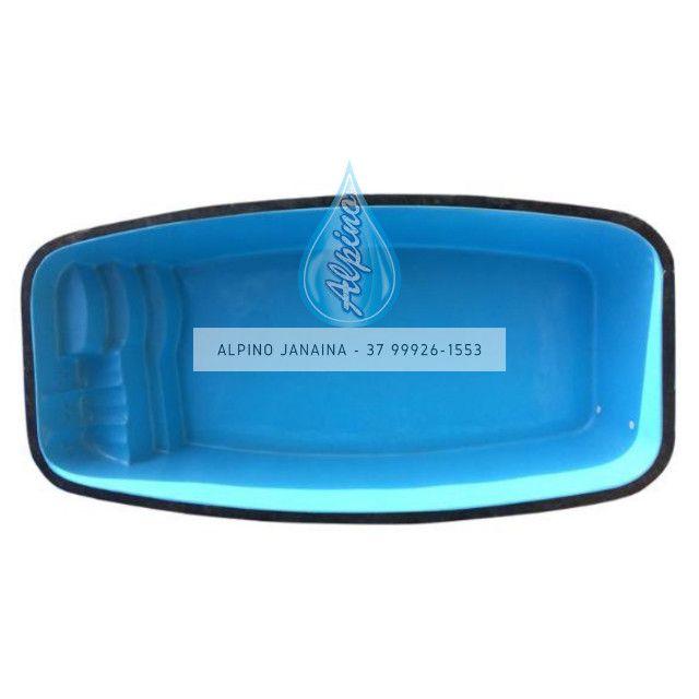 JA Piscina de fibra 6,90 x 3,45 x 1,40 Alpino Piscinas