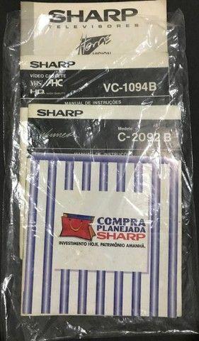 Manual Antigo TV e Videocassete Sharp: VC-1094B, C-2092B e C2999G