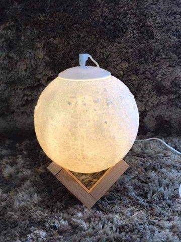 Umidificador e Luminária Lua Cheia A Pronta Entrega