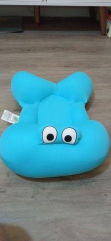 Almofada Para Banho Do Bebê Baby Pil - Azul - Foto 2