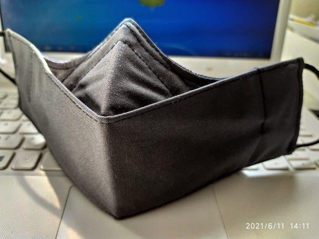 Máscaras 3D triplas com clip nasal - Foto 5