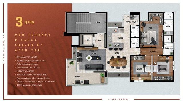 Apartamento para venda possui 114 metros quadrados com 3 quartos em Anchieta - Belo Horizo - Foto 3