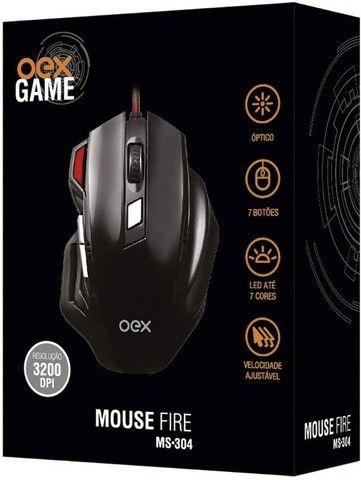 Mouse Ópitco Game USB, 6 Botões, Led Energy MS304  Com Fio