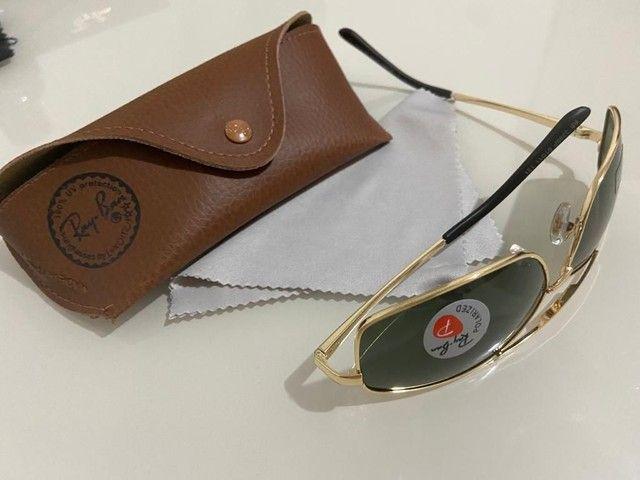 Óculos Ray Ban Unisex Metálico Modelos 100% Atualizados  - Foto 6