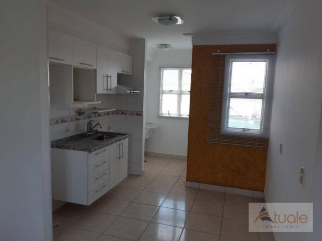 Apartamento com 2 dormitórios para alugar, 46 m² por r$ 1.050,00/mês - parque villa flores