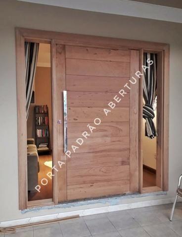 Porta madeira maciça pivotante - Foto 3