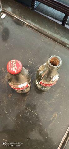 Garrafas Coca Cola Antiga Prateadas  - Foto 4