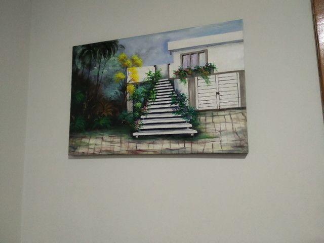 Quadro de tela  pintado mão  - Foto 3