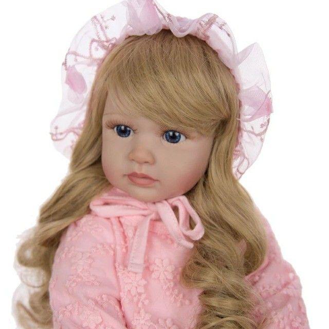 Boneca Bebê Reborn 60cm - Foto 4