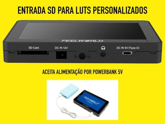 Monitor Feelworld F6 Plus Novo HDMI 4k e tela 1080p - Foto 3