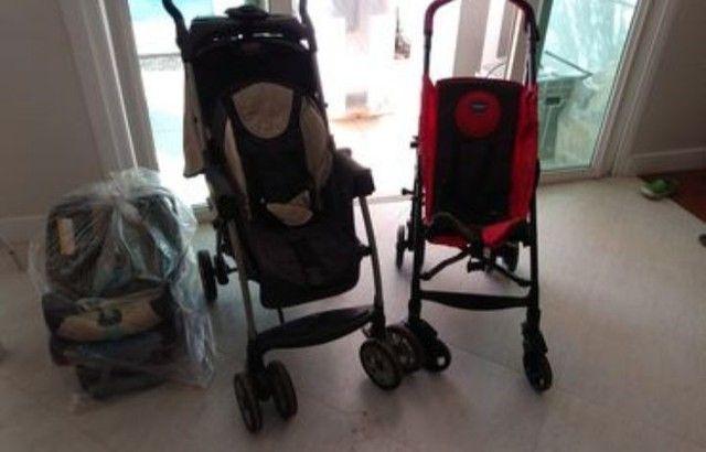 Carrinhos de bebê, suporte p/ banheira e bebê conforto.  - Foto 2