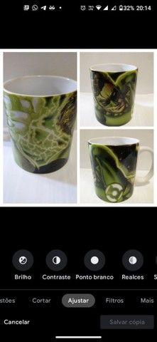 Caneca de cerâmica lanterna verde