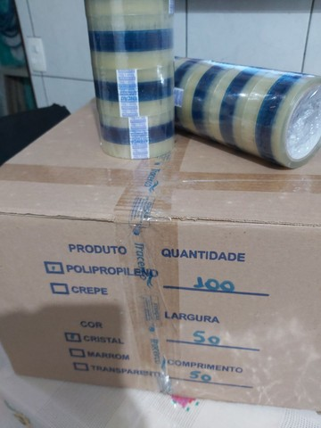 Caixa de Fita de Polipropileno 50mmx50m - Foto 2