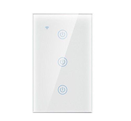 Interruptor 3 Canais Smart WiFi / Acesso Remoto / Compatível com Alexa e Google Assistente - Foto 3