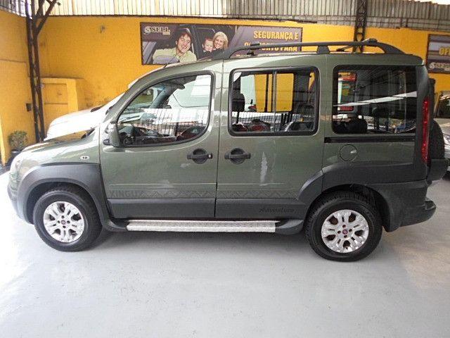 Fiat - Doblo Adventure Xingu 2013 Verde 6 Lugares Completo - Foto 9