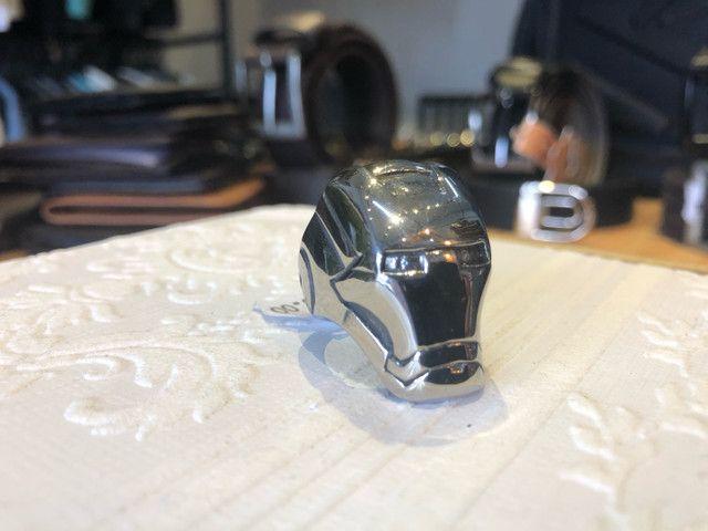 Anel de aço inoxidável - Homem de ferro - Foto 4