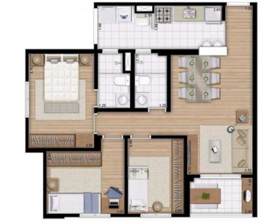 Alcance Vila Maria aptos 3 Dorms c/ suíte - 69m² - São Paulo, SP - ID2902 - Foto 11