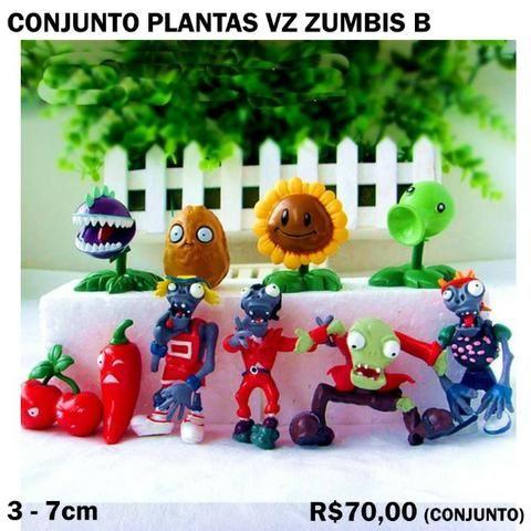 conjunto plantas vs zumbis 10 peças hobbies e coleções estados