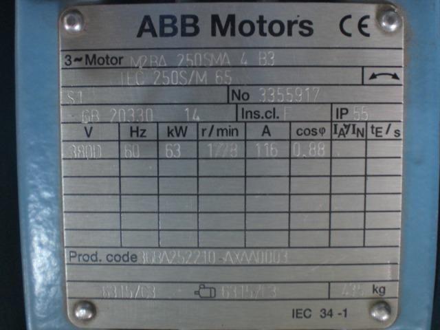 Motor elétrico 85 CV Novo 1778 RPM 380v ABB Motors - Foto 4