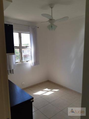 Apartamento com 2 dormitórios para alugar, 46 m² por r$ 1.050,00/mês - parque villa flores - Foto 9