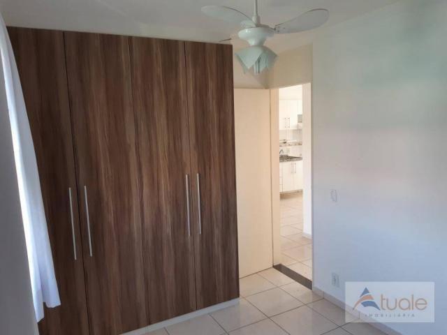 Apartamento com 2 dormitórios para alugar, 46 m² por r$ 1.050,00/mês - parque villa flores - Foto 7