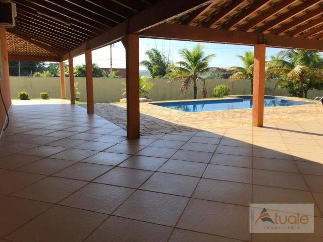 Chácara com 6 dormitórios para alugar, 1354 m² por r$ 5.000,00/mês - chácara recreio alvor - Foto 17