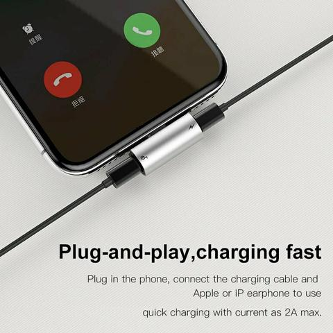 Adaptador Lightning fone + carregador iPhone original baseus - Foto 2