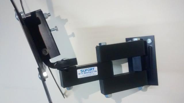 Suporte Tv Tri Articulado Lcd Plasma Led 14 A 48 Polegadas Sufort - Foto 3