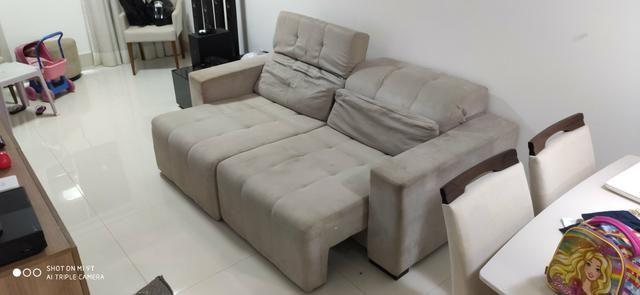 Sofá reclinável com chaise - Foto 4