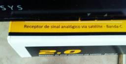 Receptor elsys analógico via satélite banda c