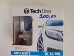 Lâmpada super White tech one h4 nova instalado no seu carro