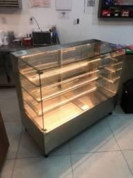Vitrine expositora sob medida - Vitrine em aço inox - refrigerada ou aquecida