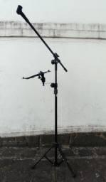 Pedestal de microfone com suporte para tablet (novo)
