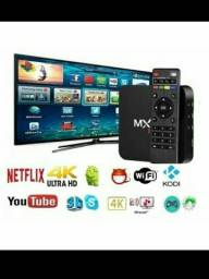 Tv box Mx9 64Gb Rom 4Gb Ram Nova Lacrada