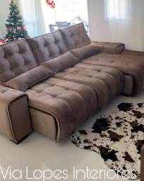 Sofa barcelona griffe de 2.80m retratil e reclinavel, Via Lopes Interiores 62 9  *