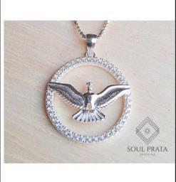 Colar Espírito Santo Cravejado Prata 925