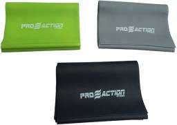 Kit de Faixa Elástica para Exercícios 1200 x 150 x 0,40/0,50/0,60mm Proaction