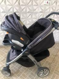 Carrinho de Bebe Chicco Bravo + Bebê Conforto